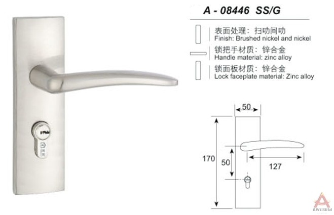 Awesum High Quality Modern Small-size Lock A08446SSG