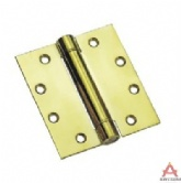 "4""x4"" stainless steel spring hinge brass plated"
